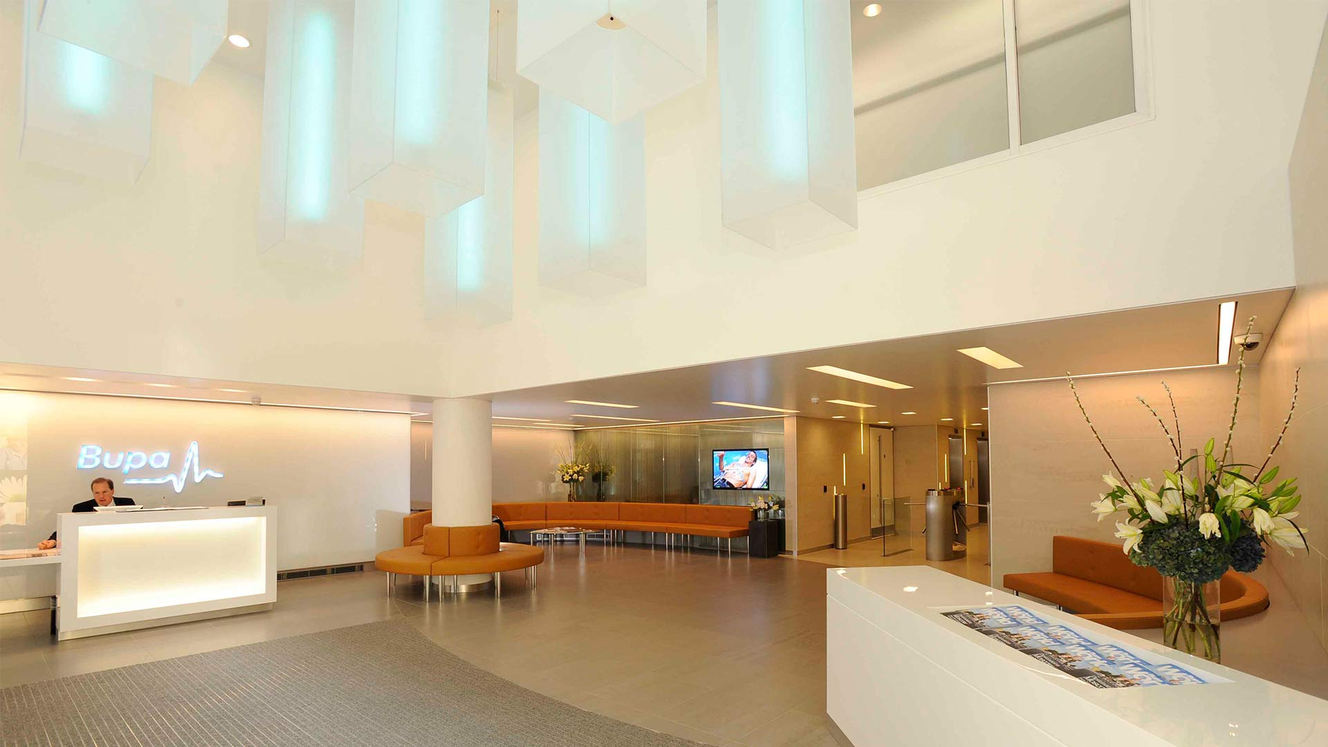 Office Foyer Lighting : Bupa headquarters nulty lighting design consultants
