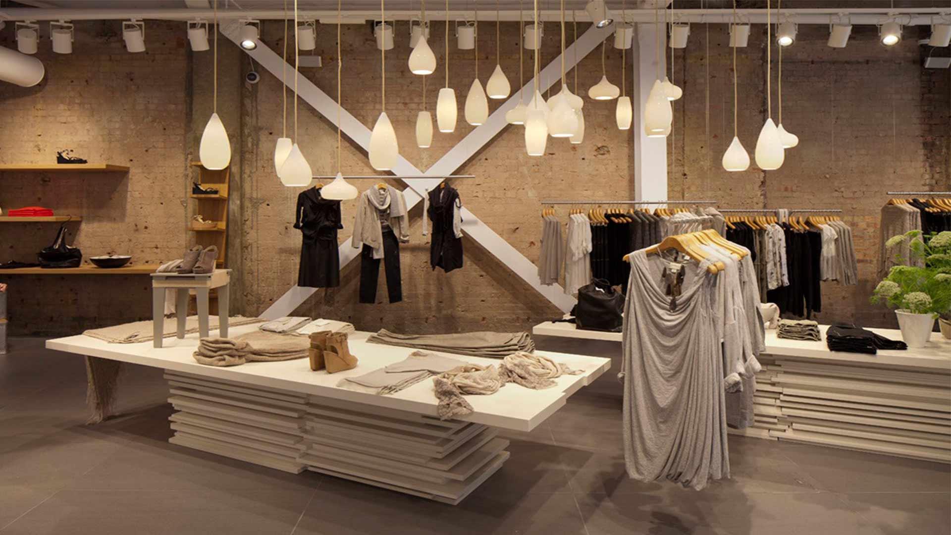 Hanging Pendants Lighting Design Retail Loft Style Interior Nulty