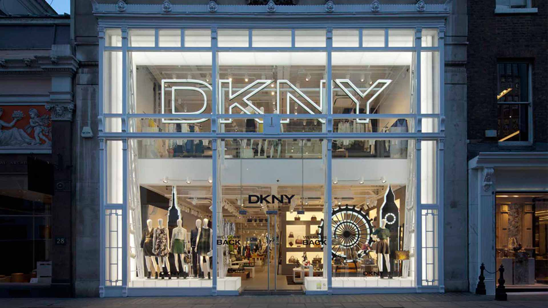 Dkny bond street nulty lighting design consultants for Luxury exterior lighting