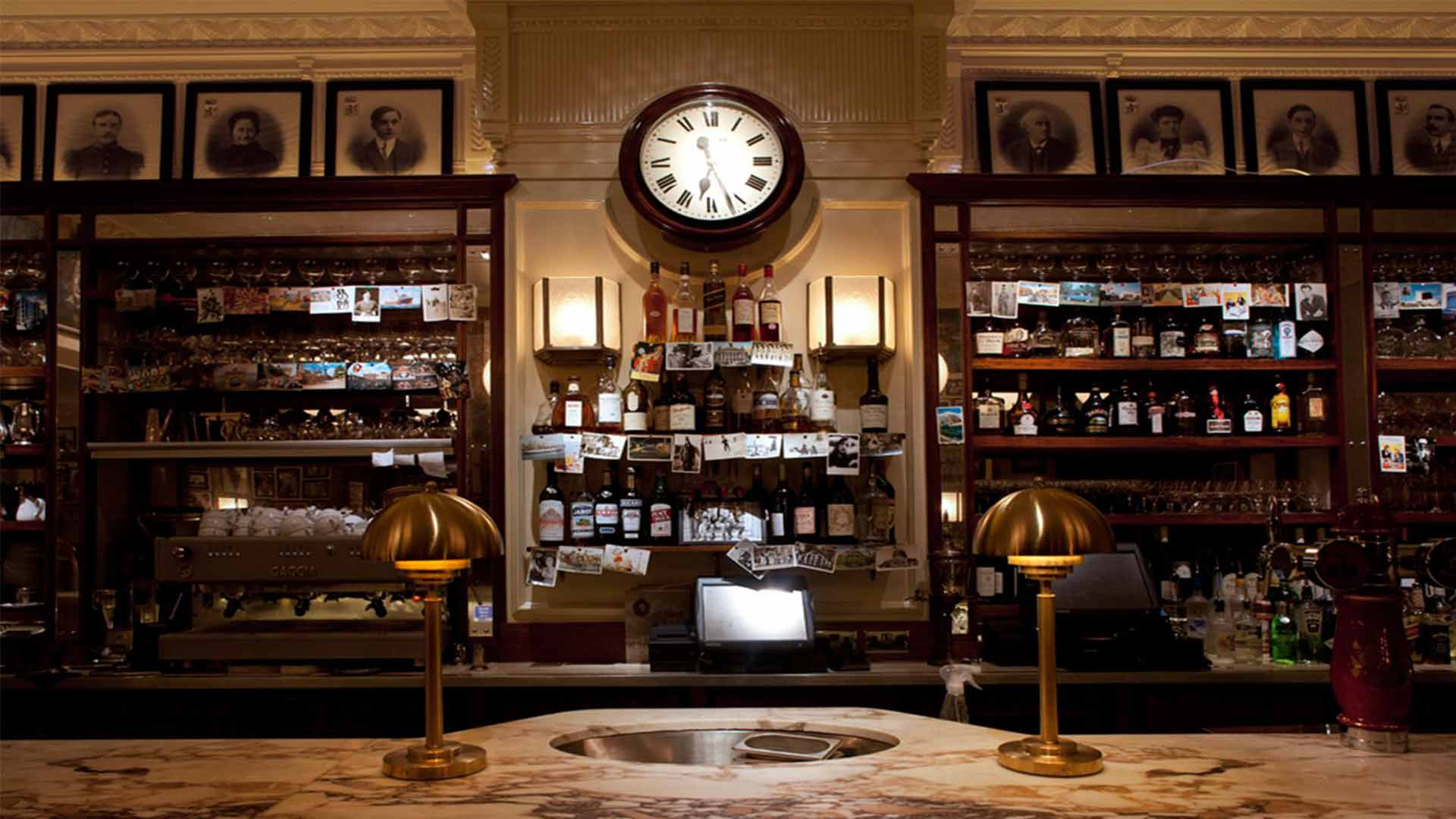 Restaurant Bar Wall Clock Shelving Lamps Architectural Lighting Design Nulty