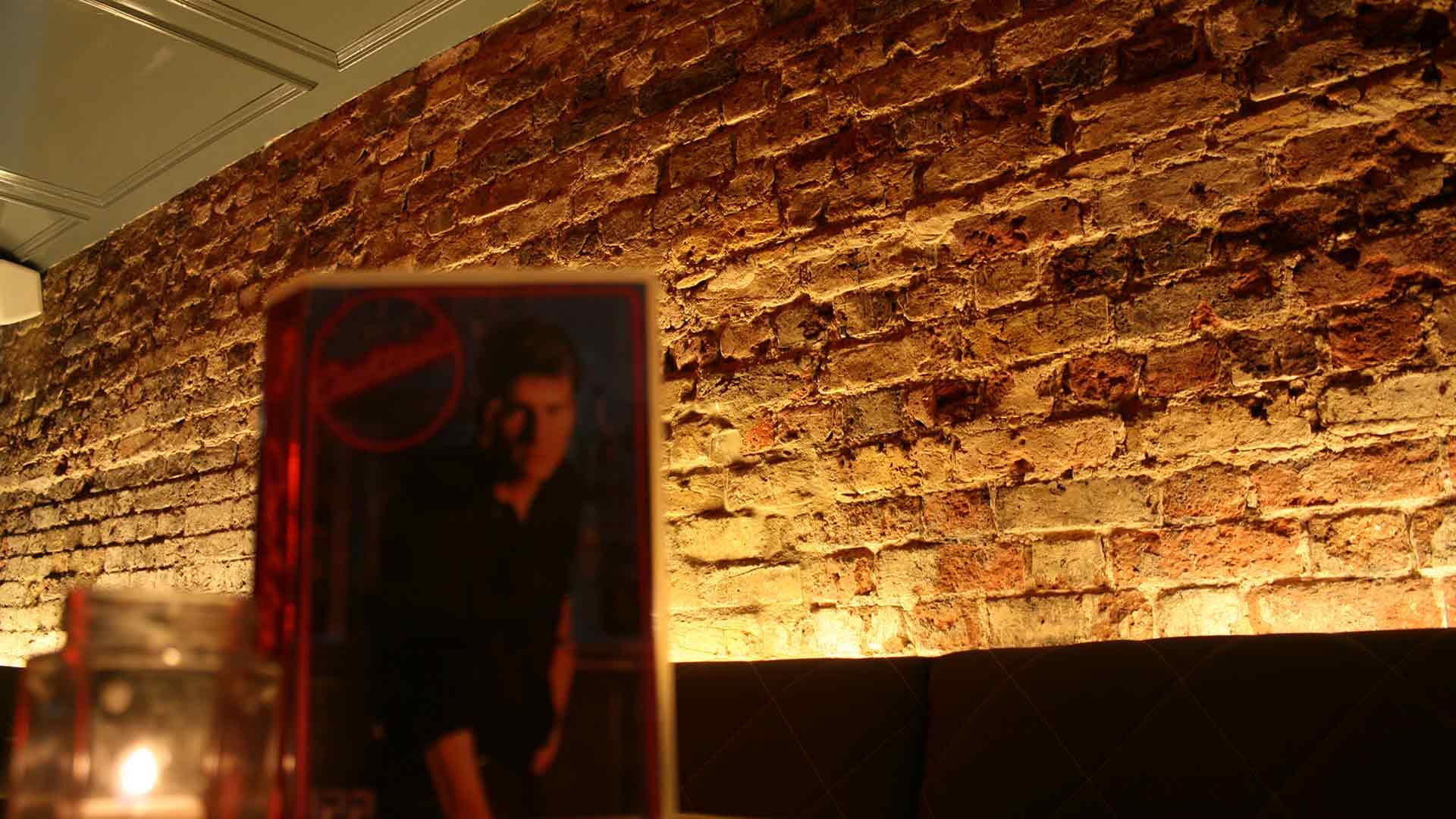 Bar Uplighting Exposed Brickwork Interior Cocktail Menu Nightlife Nulty