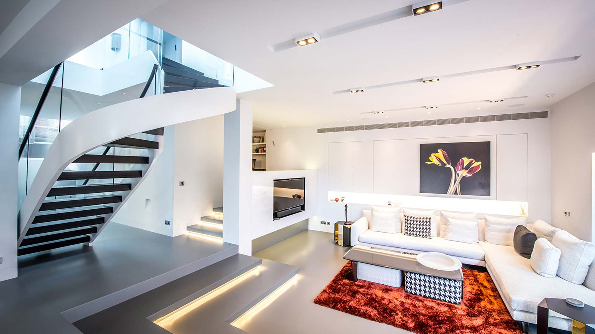Living Space Stairs Integrated Light Relaxing Modern Nulty