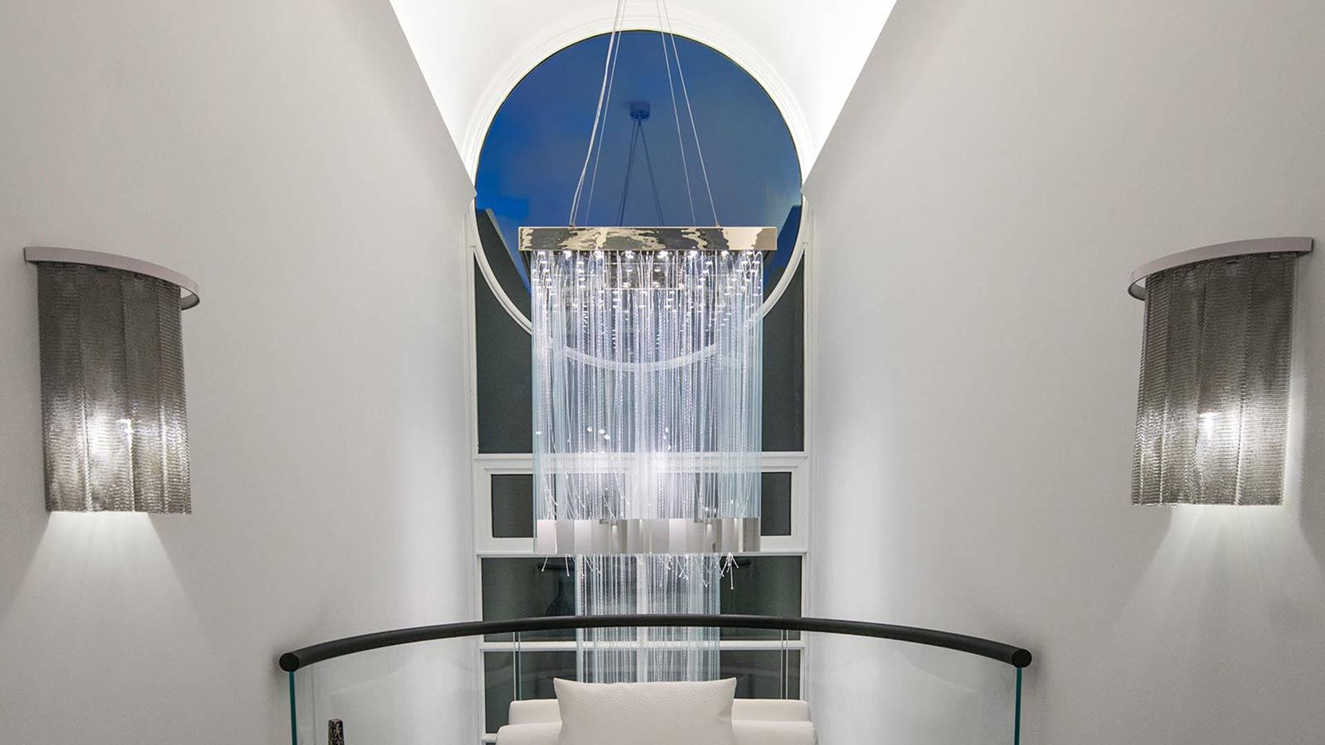 Residential Bespoke Chandelier Barrel Vaulted Ceiling Lighting Design Nulty