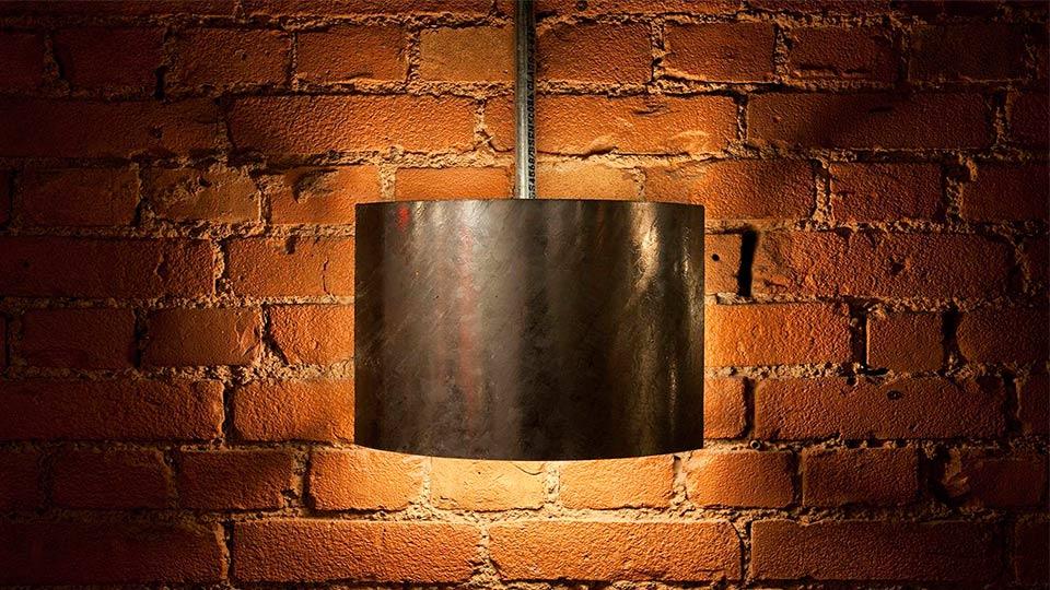 Exposed Brickwork Bespoke Shielded Metal Lighting Design Nulty