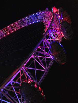 Ferris Wheel Close-up Capsules Lighting Event Colour Blocking Nulty