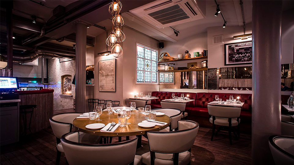 Wright Brothers Soho Oyster House Nulty Lighting