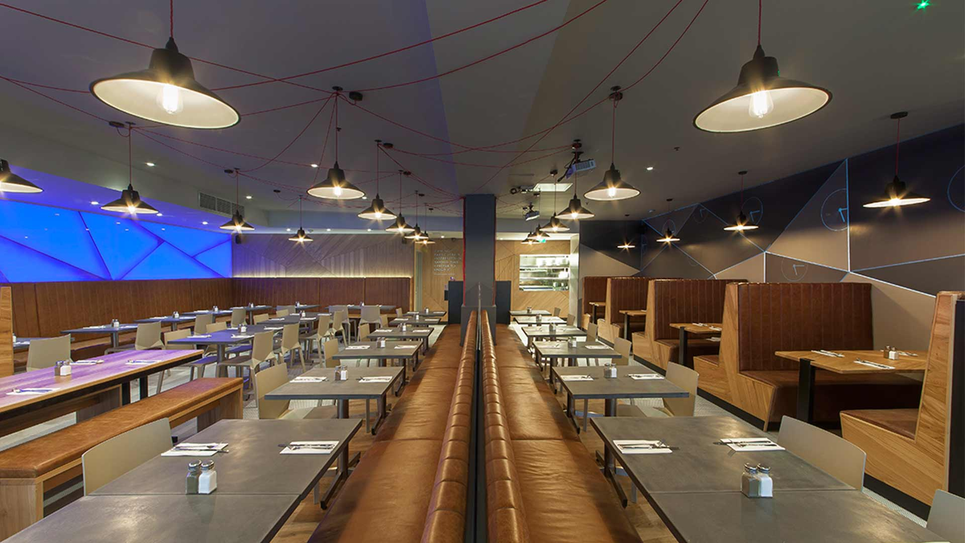 Lighting Scheme 24 Hour Cafe Diner Bench Seating Design Nulty