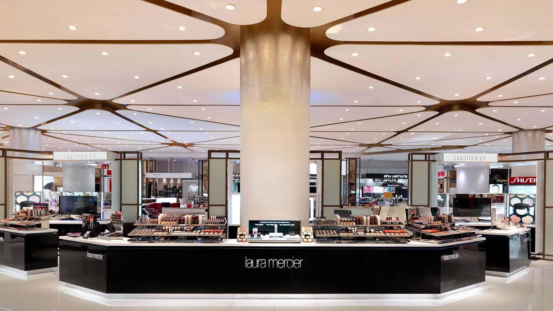retail beauty hall department store brand counter lighting design