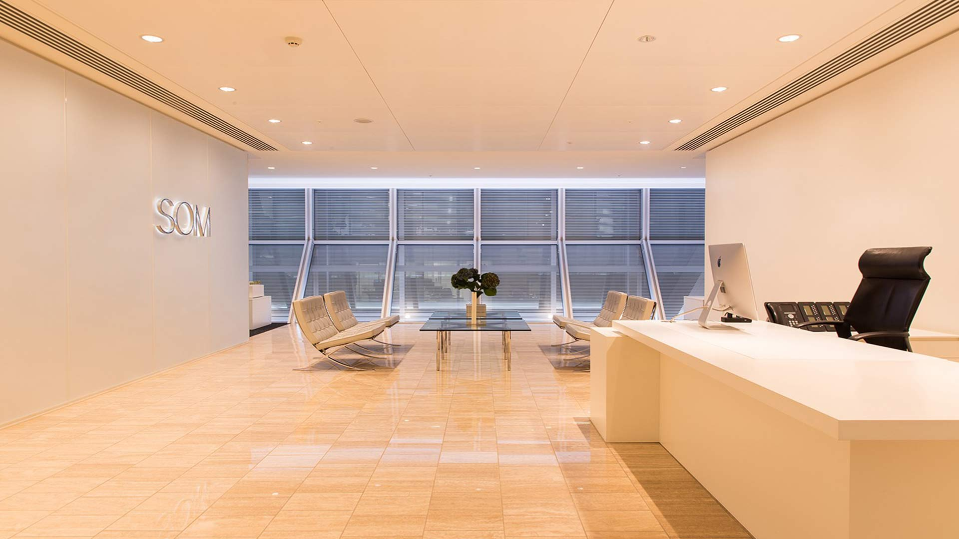 Architectural Lighting Design Office Reception Contemporary Palette Nulty