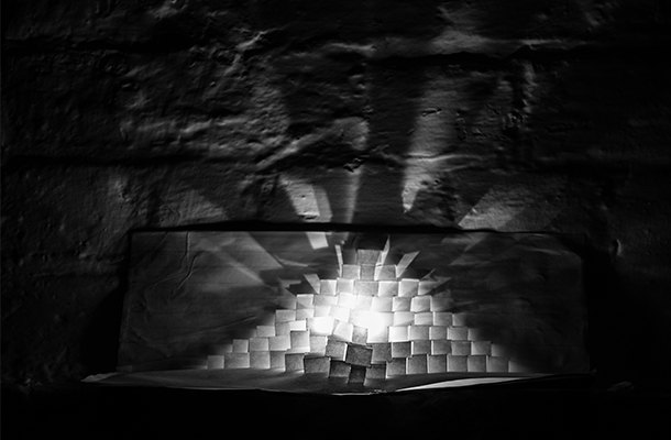 Paper Pyramid Lampshade Luminaire Design Chase The Dark 2014 Nulty