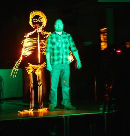 Light Graffiti Daniel Gray Skeleton Light Art Nulty