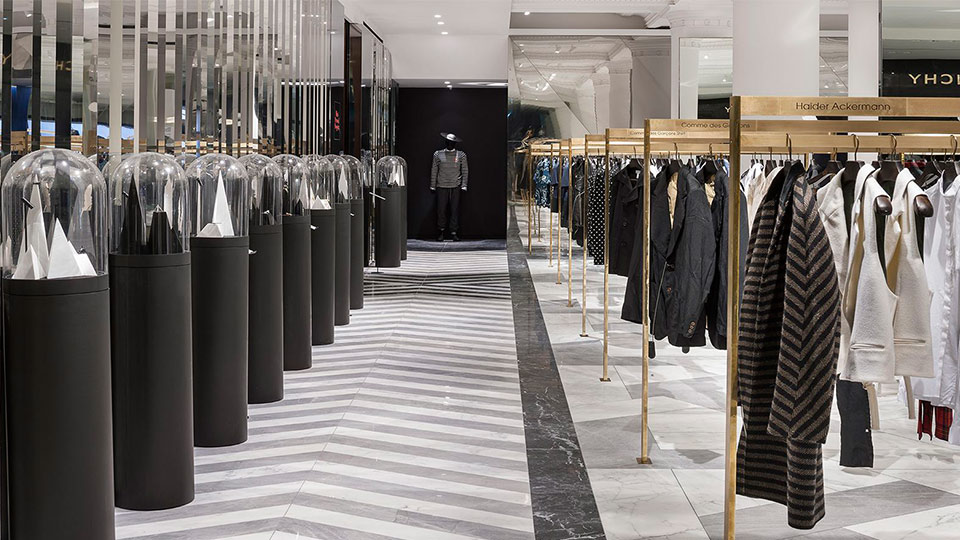 Selfridges menswear personal shopping nulty lighting design consultants for Personal shopper interior design