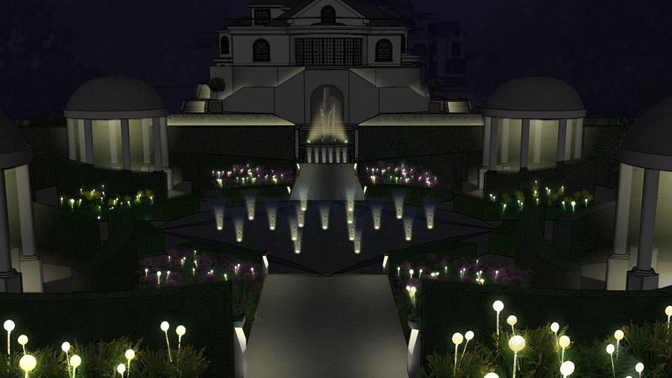 Garden Of Surprises Nulty Lighting Design Consultants