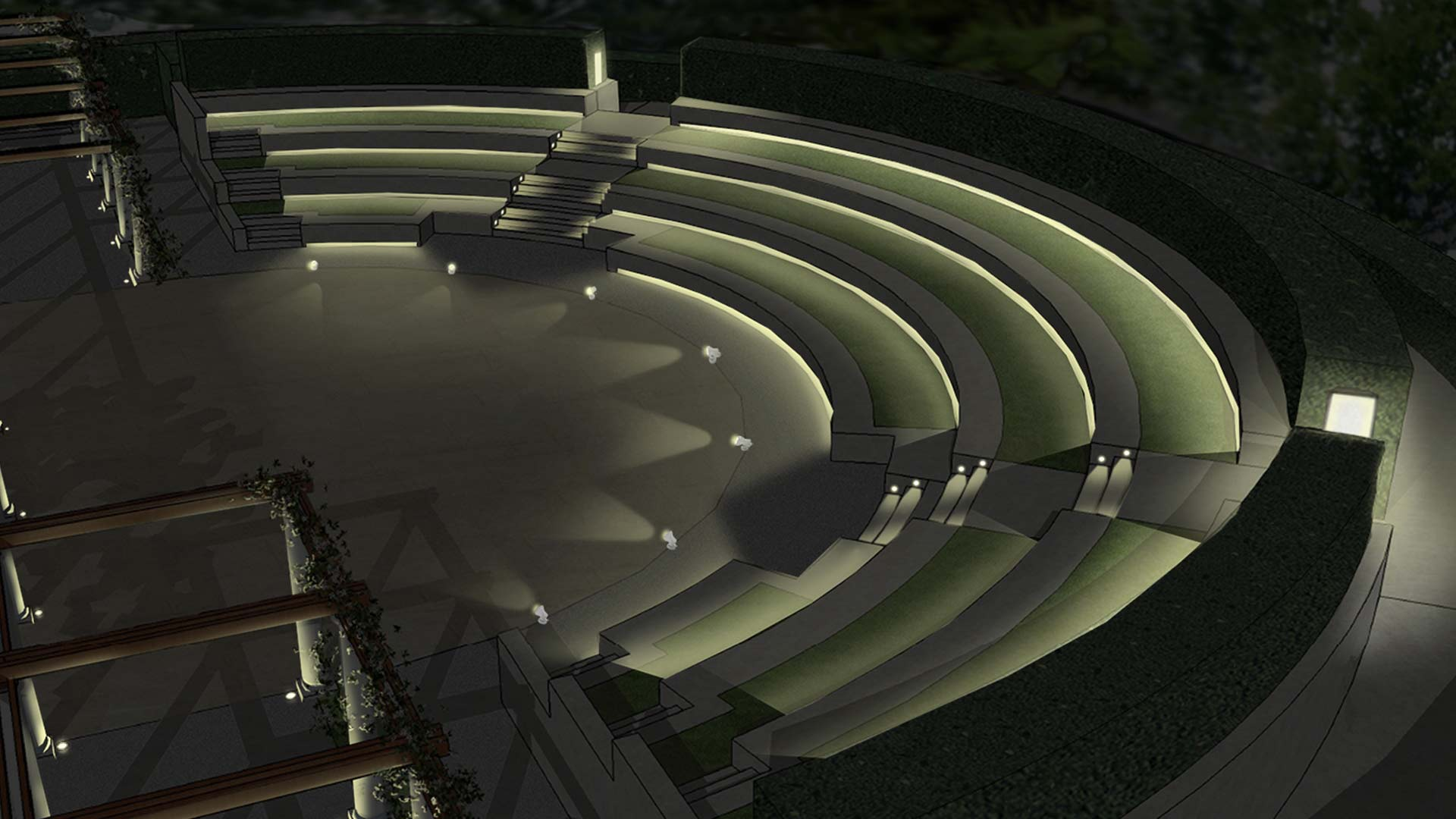 Garden of surprises nulty lighting design consultants for Landscape lighting companies