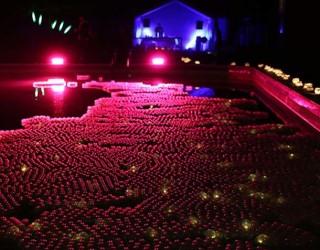 Pink Illuminated Floating Balls Pells Pool Festival Of Light Design Nulty