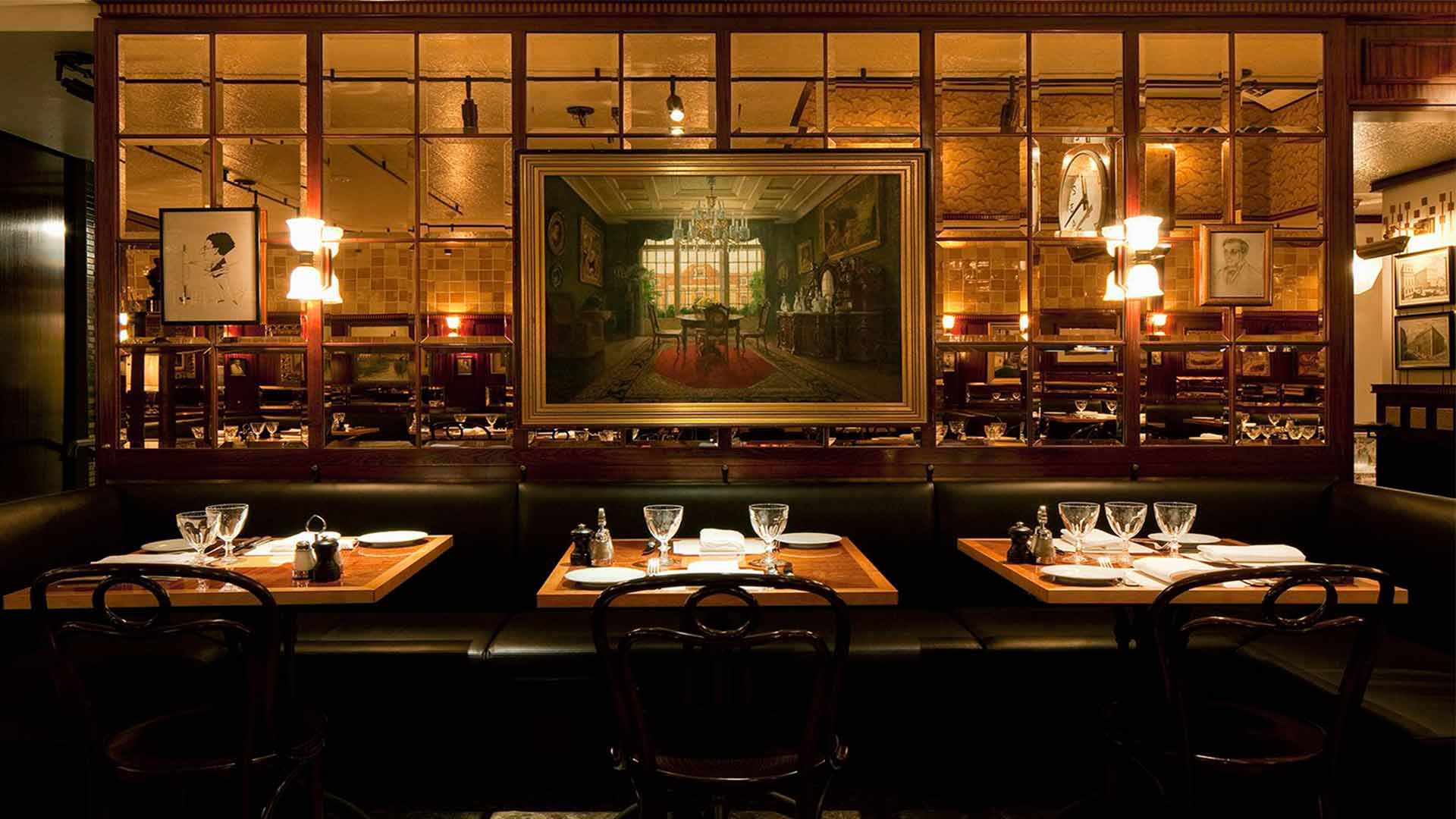 Intimate Austrian Dining Room Experience Banquette Light Nulty