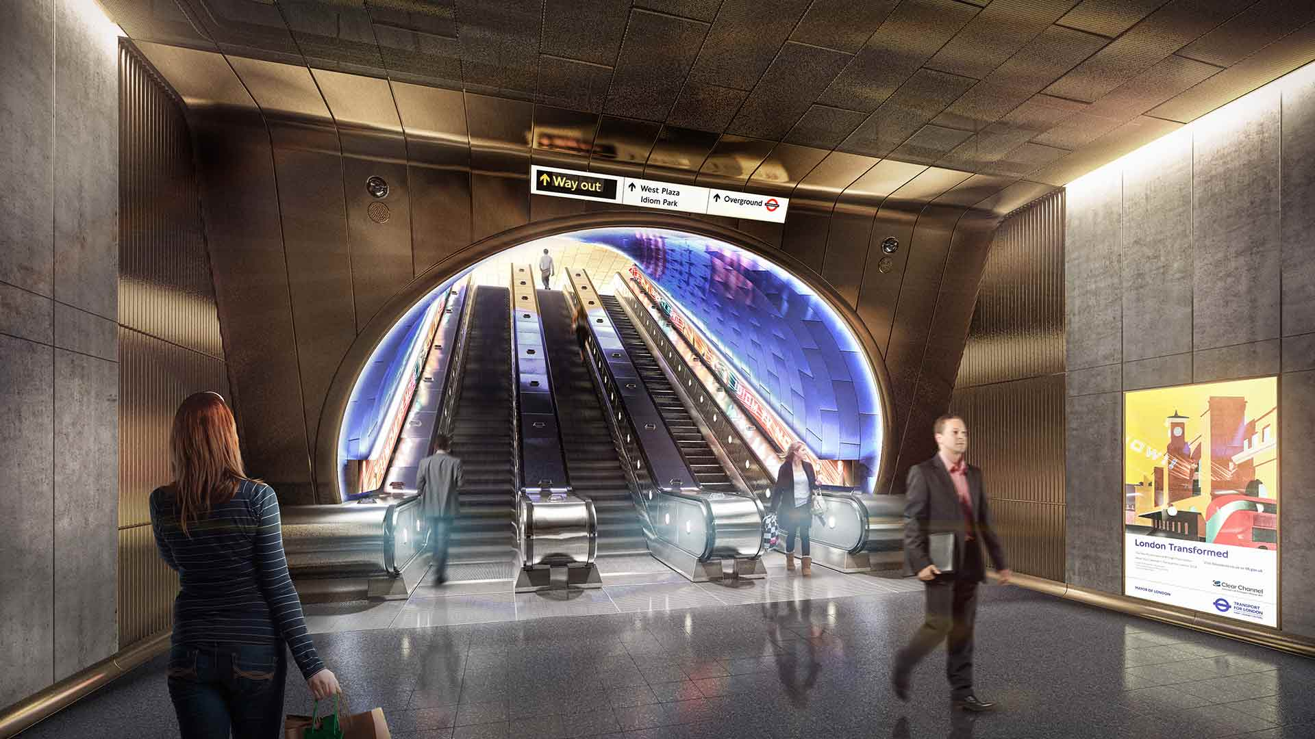 Lighting London Underground Station Design Idiom Escalator Travel Sustainable Nulty