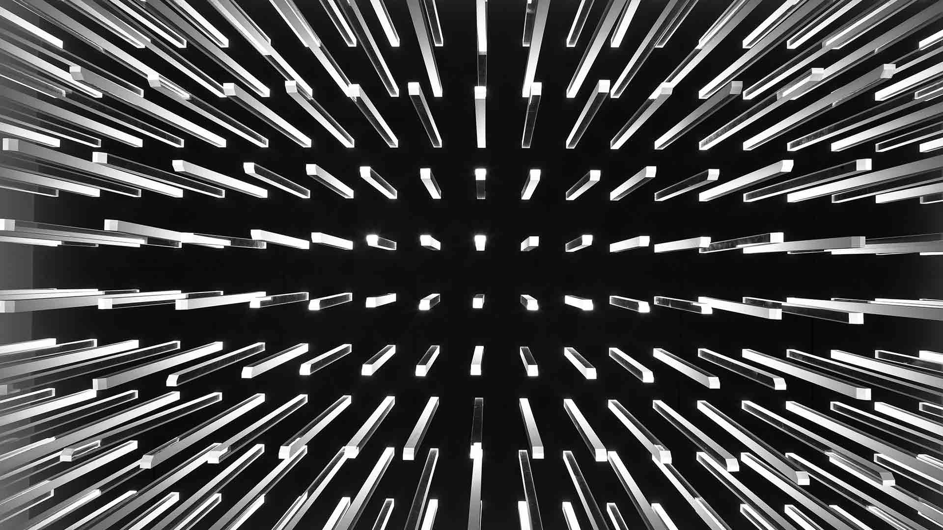 Light Sculpture Texture Chandelier Installation Vertical Lines Nulty