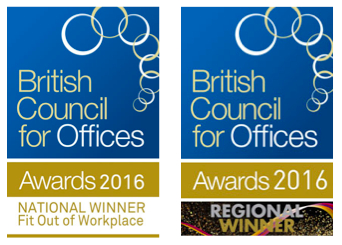 British Council for Offices Awards 2016 Berghaus Winner Lighting Nulty
