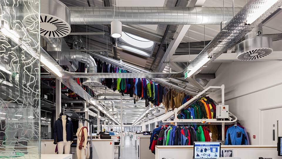 Berghaus head office nulty lighting design consultants for Industrial design services
