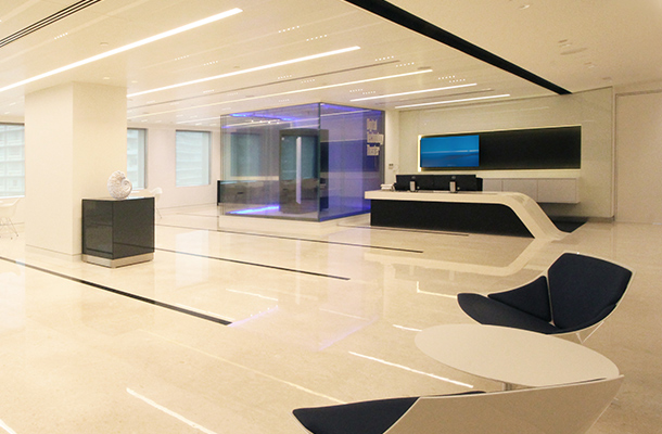 Office Reception International Lighting Designers Nulty