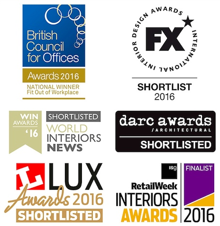BCO Retail Week Interiors Lux FX Darc WIN Awards 2016 Lighting Design Nulty