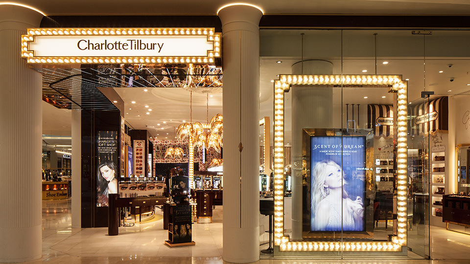 charlotte tilbury westfield london nulty lighting design