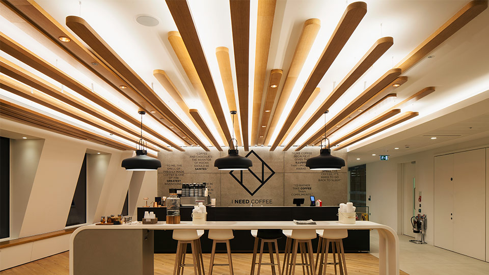 Ing bank uk headquarters nulty lighting design consultants for Shop ceiling design