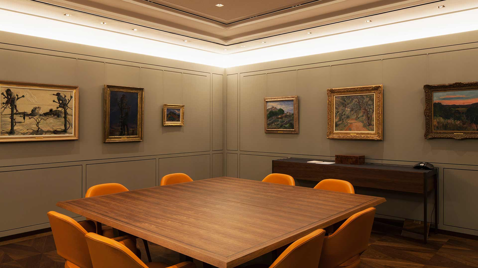Lighting Scheme Meeting Room Office Displayed Art Collection Nulty