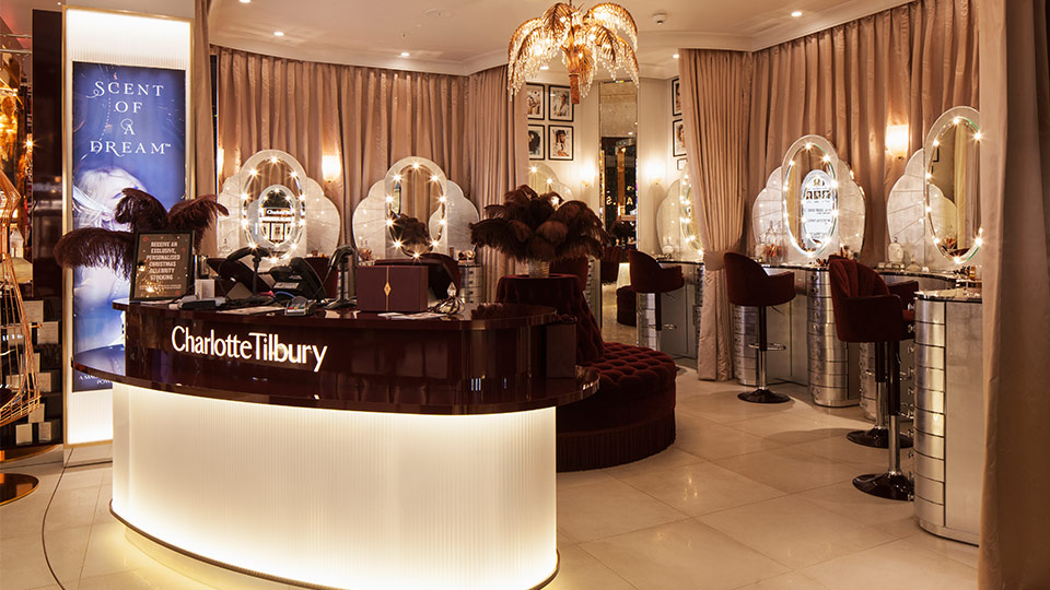 Charlotte Tilbury Westfield London Nulty Lighting