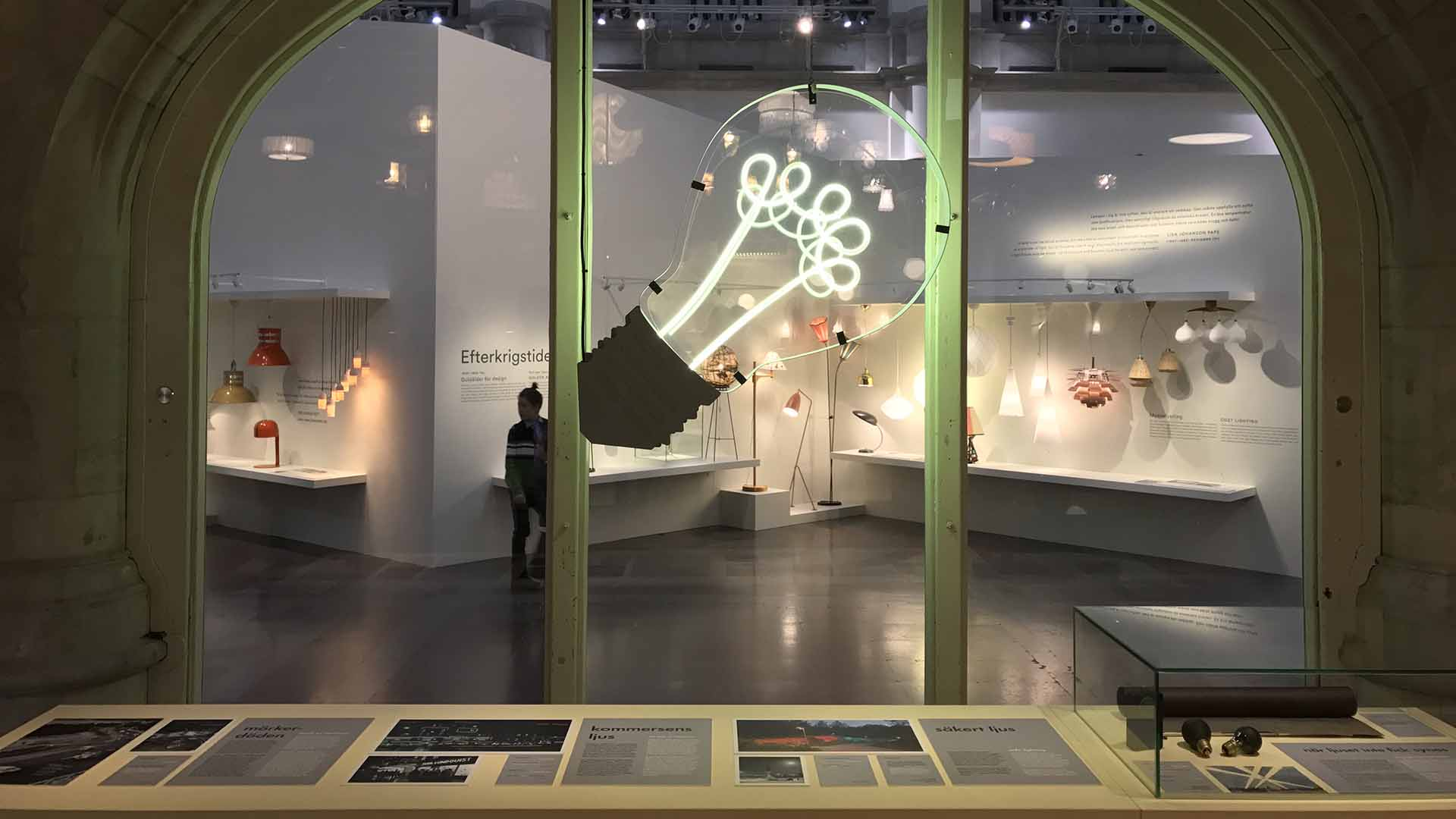 Neon Lamp Installation Nordic Light Exhibition Nordiska Museet