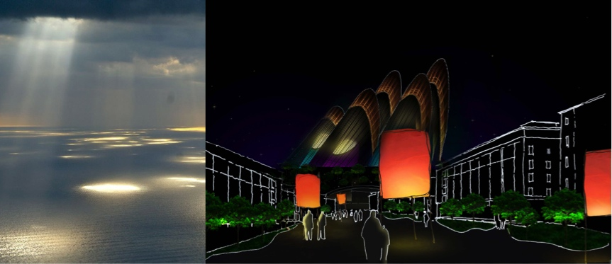 Architectural Lighting Design Time Line Garden Saadiyat Cultural District Abu Dhabi