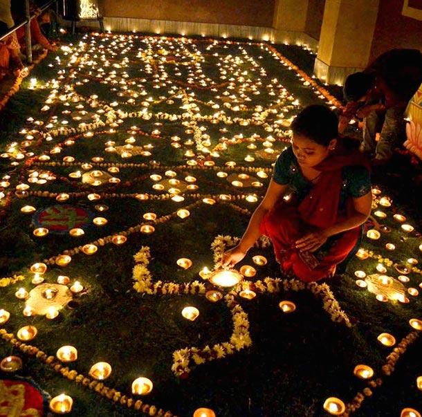 Diwali Festival Diyas Lights