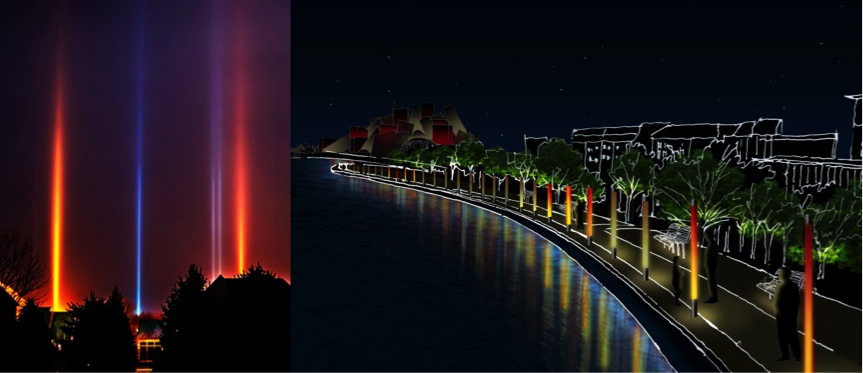 Promenade Saadiyat Cultural District Lighting Design Scheme