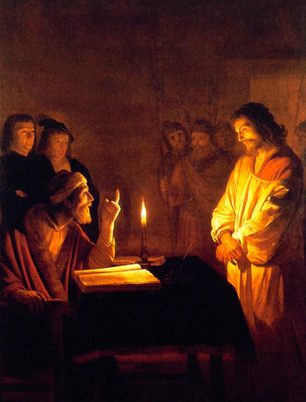 Christ Before The High Priest Gerrit Van Honthorst Chiaroscuro Style