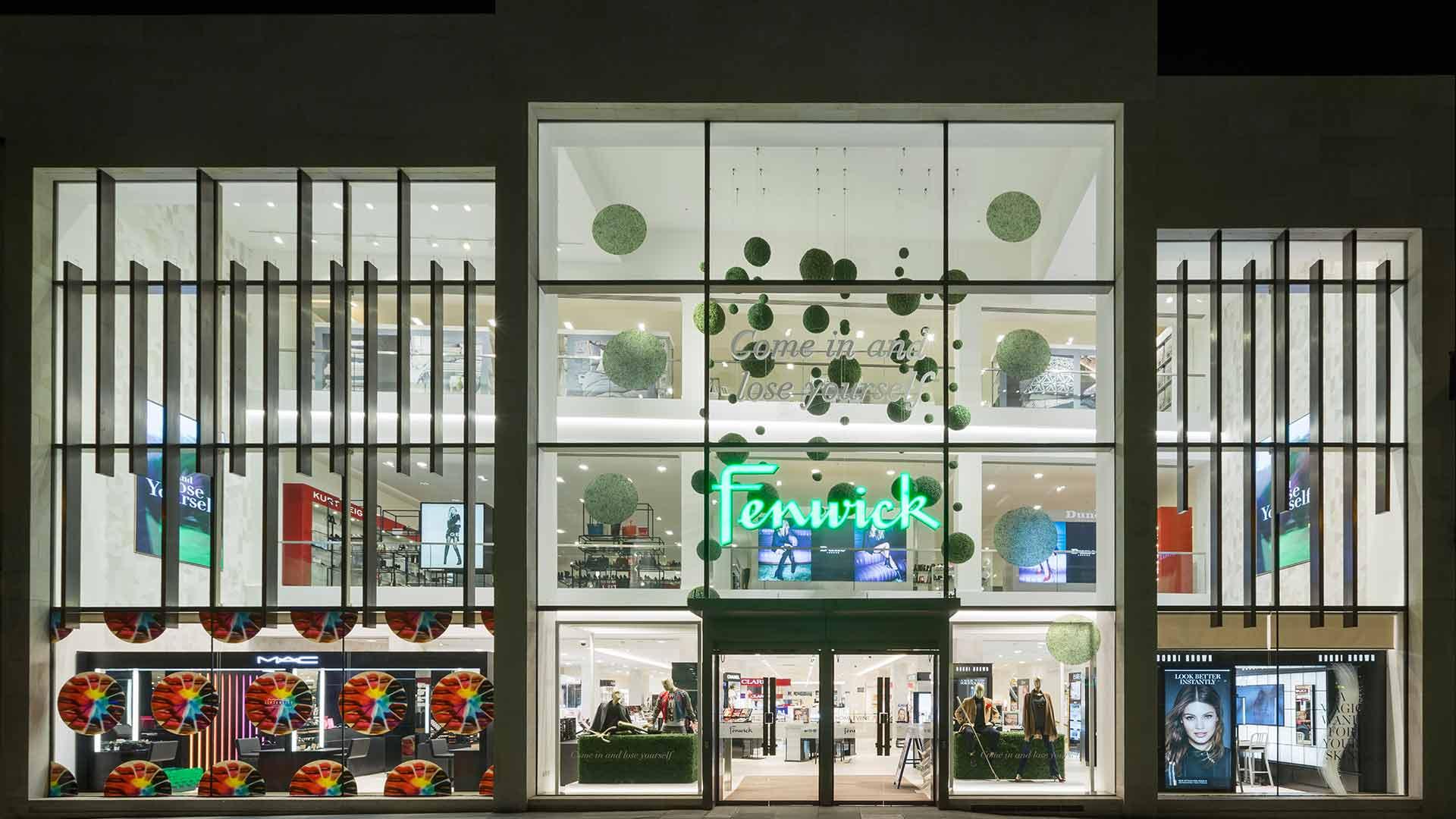 Retail Department Store Triple Height Atrium Modern Glass Exterior Nulty