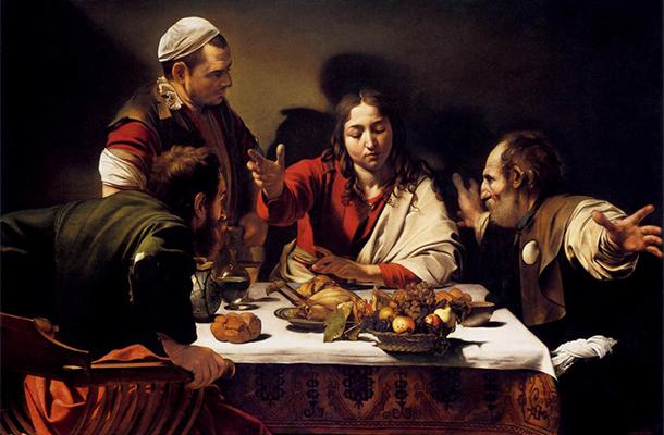The Supper At Emmaus Caravaggio Chiaroscuro Style