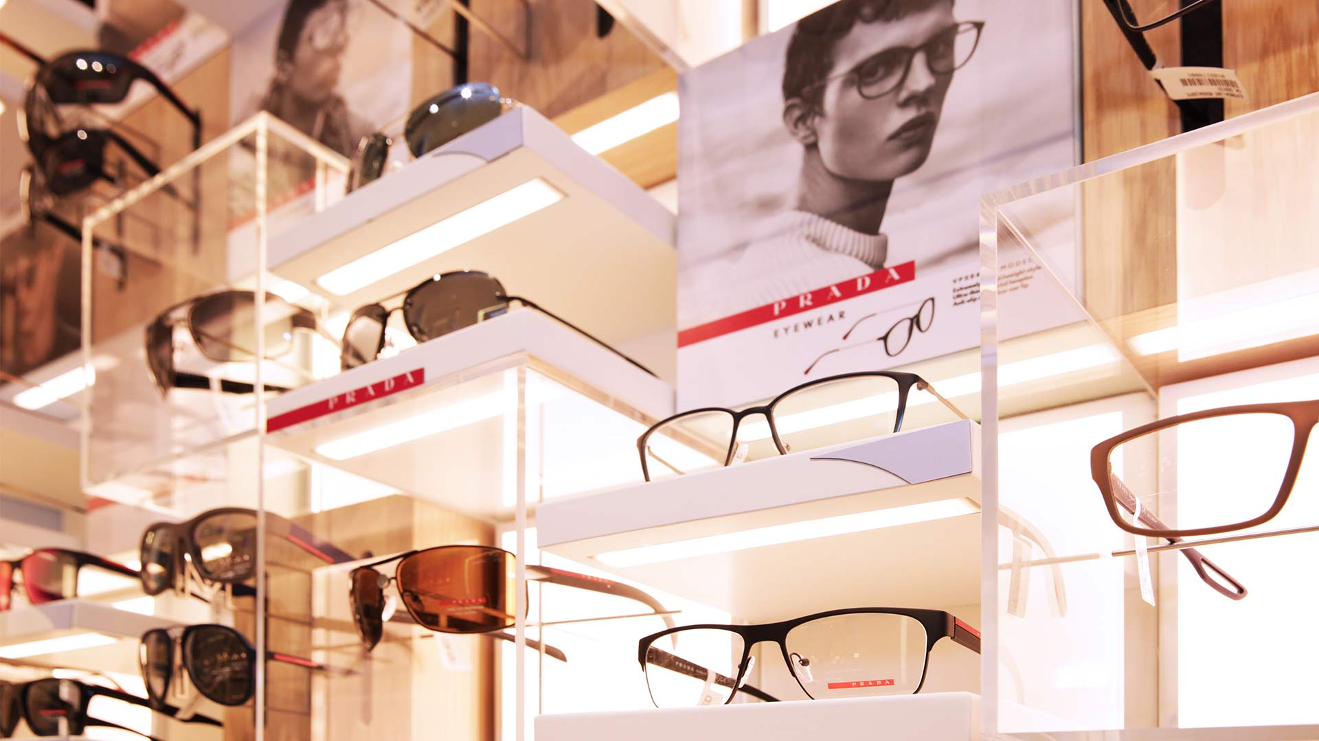 Glasses Display Optical Store Integrated Lighting Design Nulty