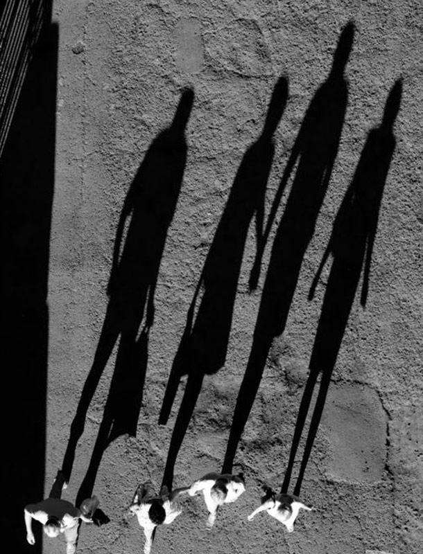 People Long Shadows