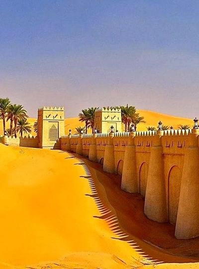 Desert Fortress Contrast Light Dark