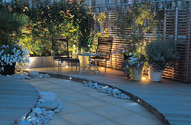Lighting Design Roof Terrace Planting