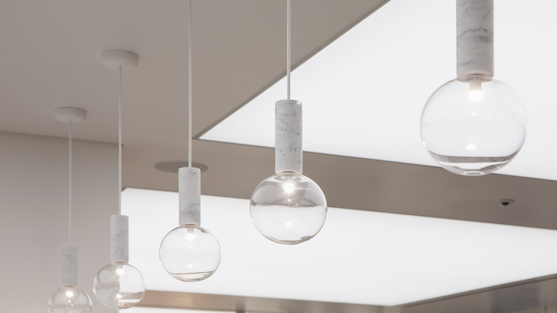 Lighting Scheme White Interior Suspended Luminaires Nulty