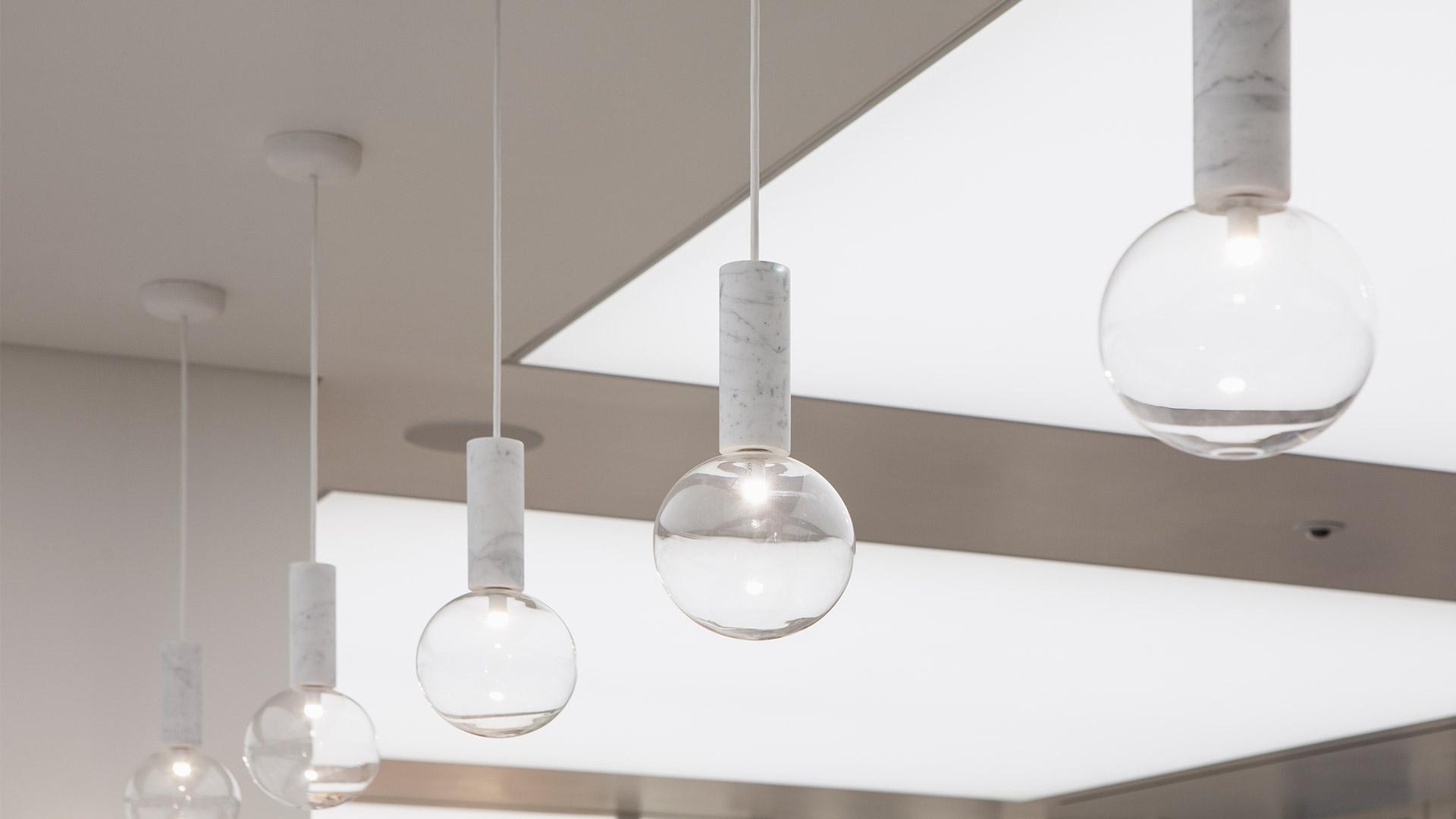 Lighting Scheme Lighting Scheme White Interior Suspended Luminaires Nulty