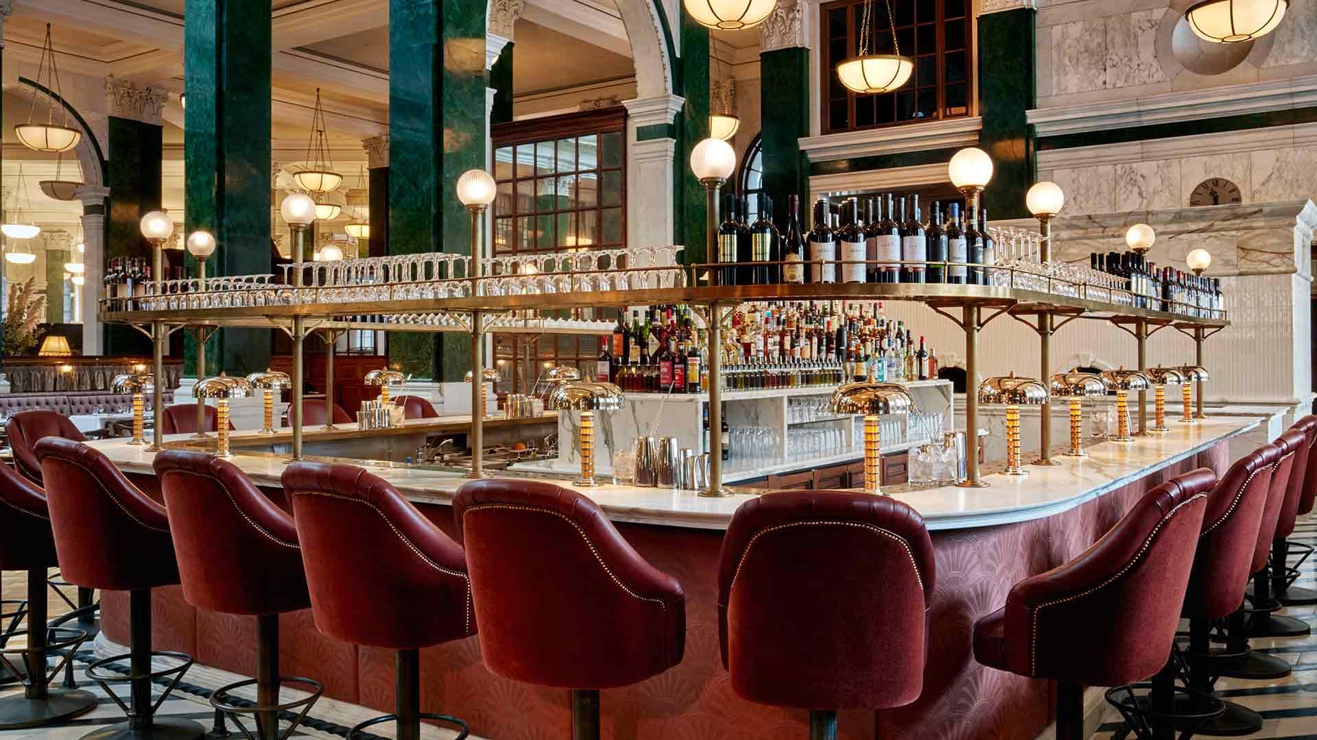 Art Deco Luxury Bar Interior Lighting Scheme Pendants Historic Location Consultants Nulty