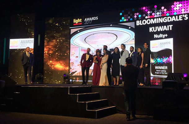 Nulty Lighting Designers Dubai Light Middle East Awards 2017 Bloomingdale's Retail Winner