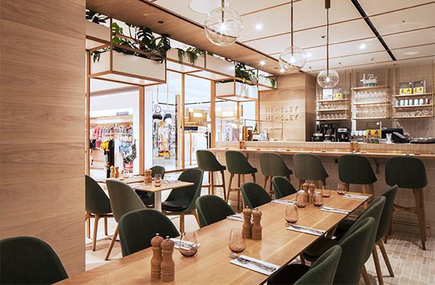 Retail Theatre Restaurant Lighting Pendants Plants Airy Natural Illumination Nulty