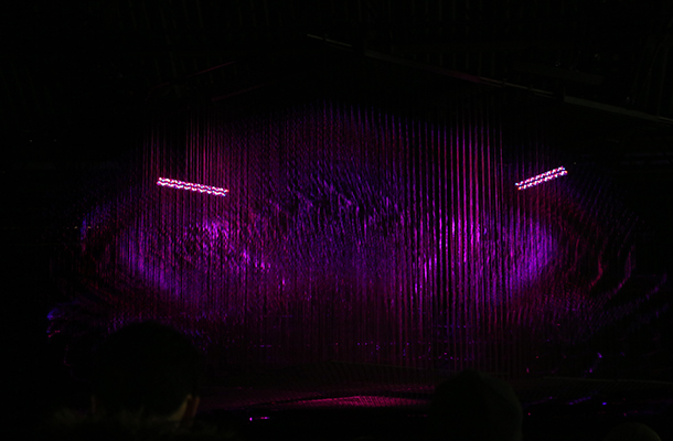 Aether Architecture Social Club with Max Cooper Light Art