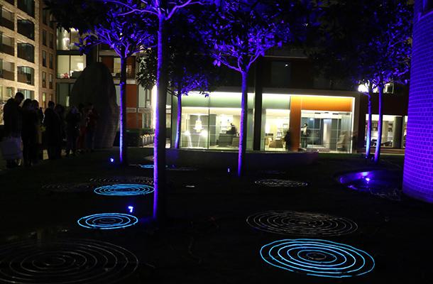 Droplets Ulf Pedersen Light Art