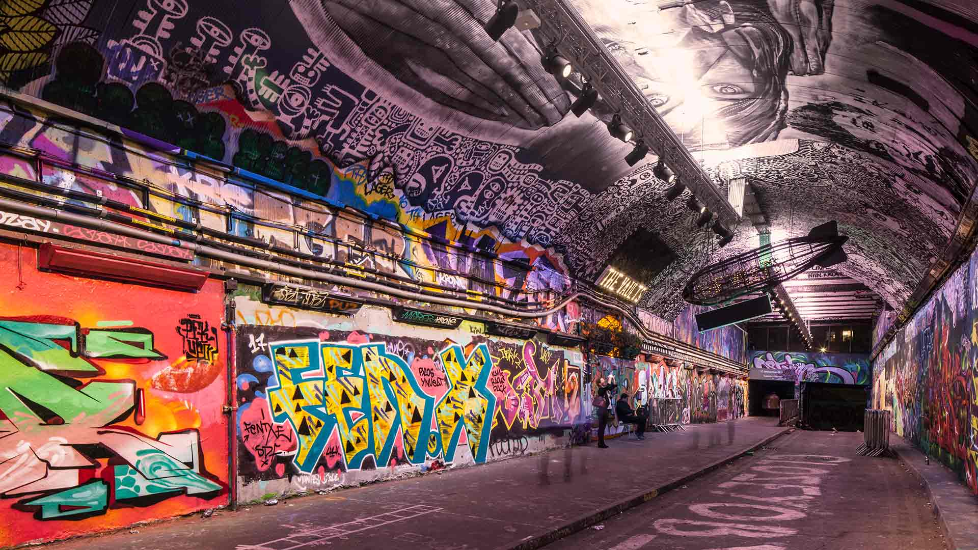 Graffiti Tunnel Gallery Style Lighting Design Consultants Nulty