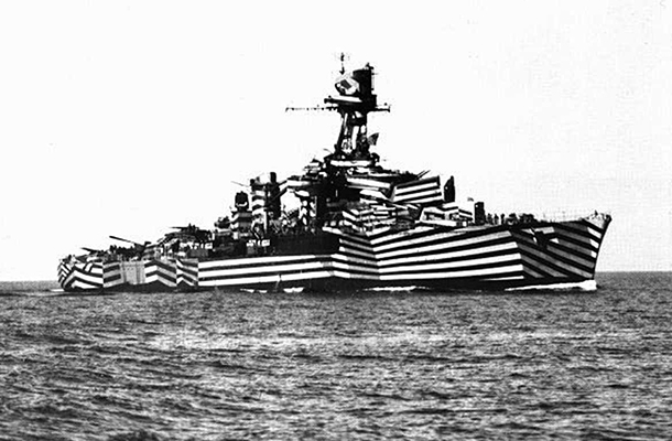 Dazzle Warship Black White Warship Clever Design
